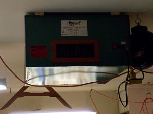 Air filter hung